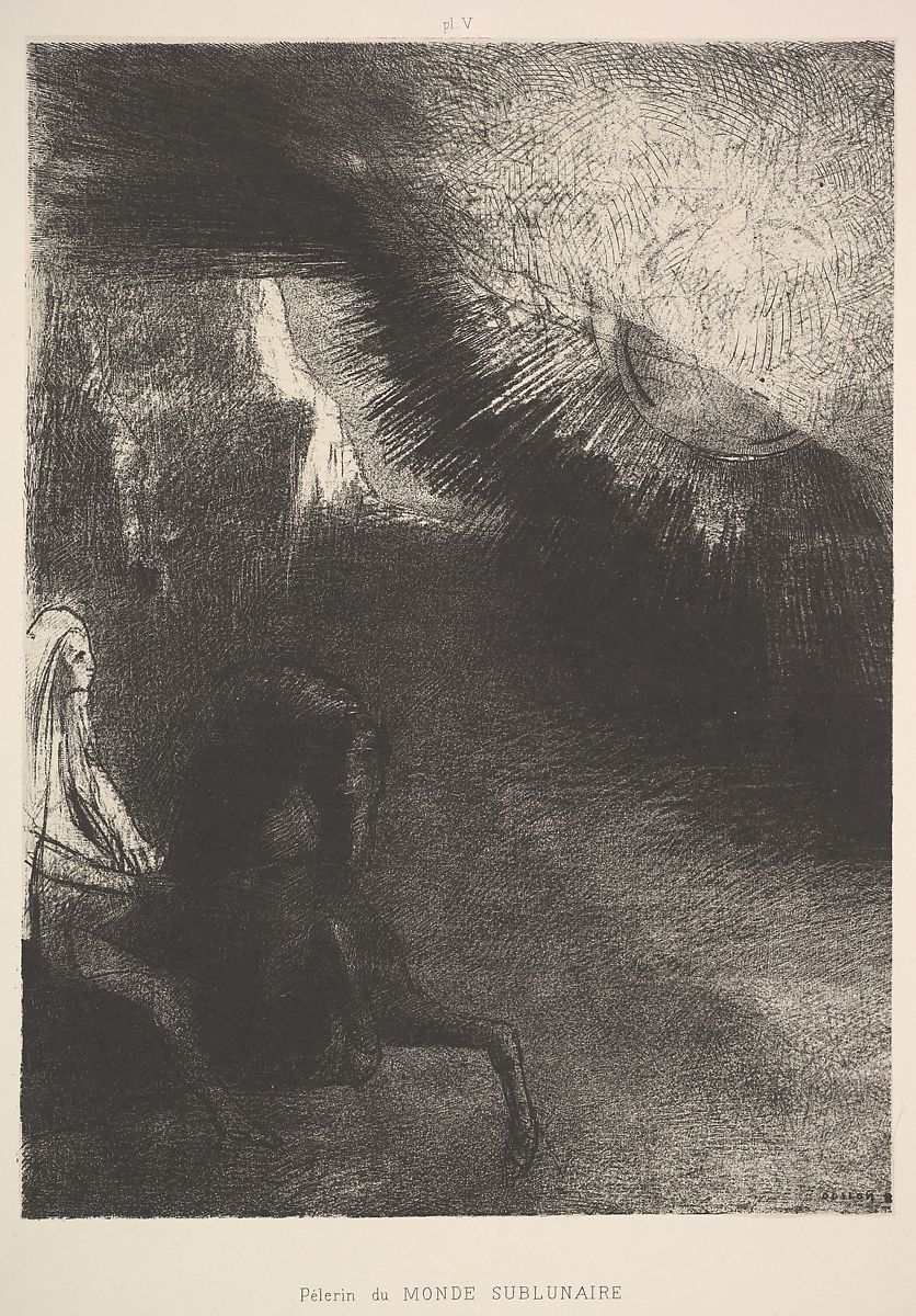 odilon redon pilgrim from a sublunar world