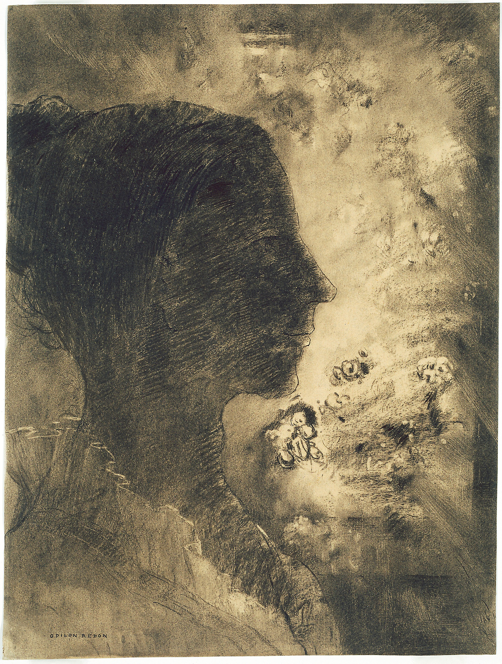 profile of shadow by Odilon Redon